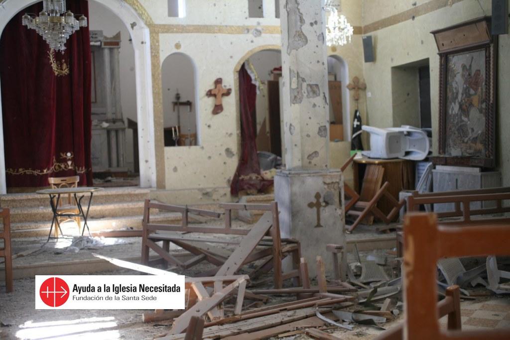 Reparar los peores daños de catedral en Homs, una misión de ACN