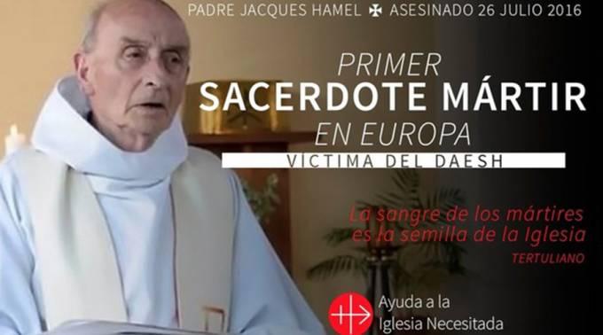 Proponen rendir homenaje a sacerdote asesinado por el Daesh y rezar por el fin de la violencia