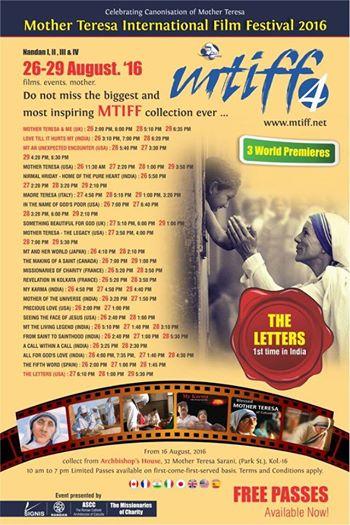 Serán 23 filmes de la Madre Teresa exhibidos en festival previo a su canonización