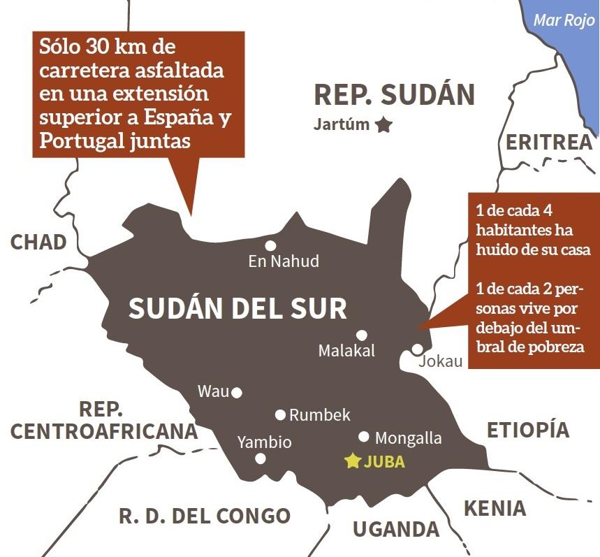 Sudán del Sur: más de 50.000 muertos y 2.5 millones de desplazados y refugiados