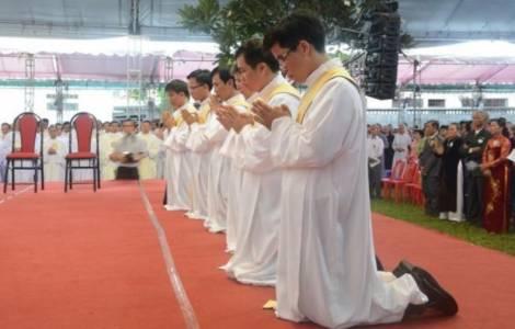 Ocho jesuitas, recién ordenados en Vietnam, inician su labor bajo las auspicios del Año de la misericordia