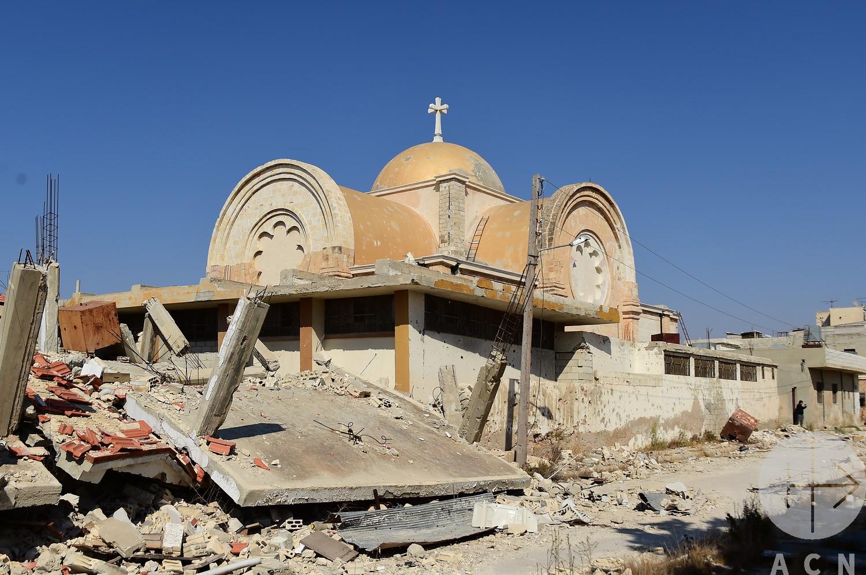 Cuatro niños muertos tras bombardeos sobre un barrio cristiano en Alepo