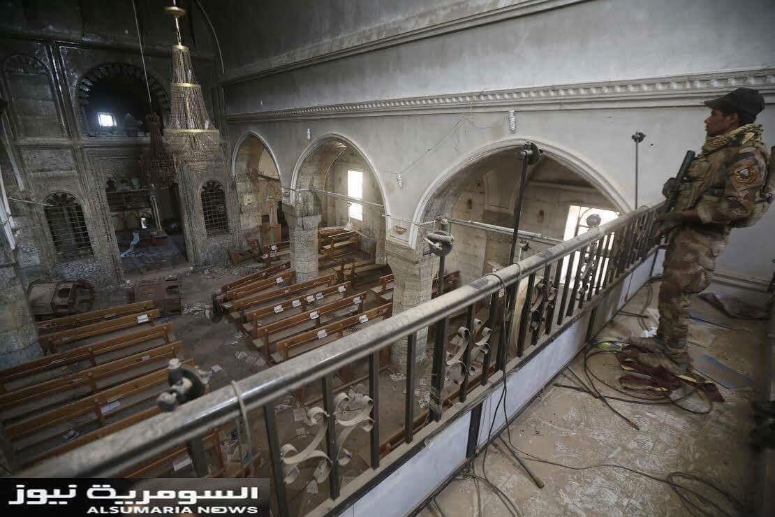Iglesias saqueadas y quemadas: Lo que deja el Estado Islámico en Irak a su retirada