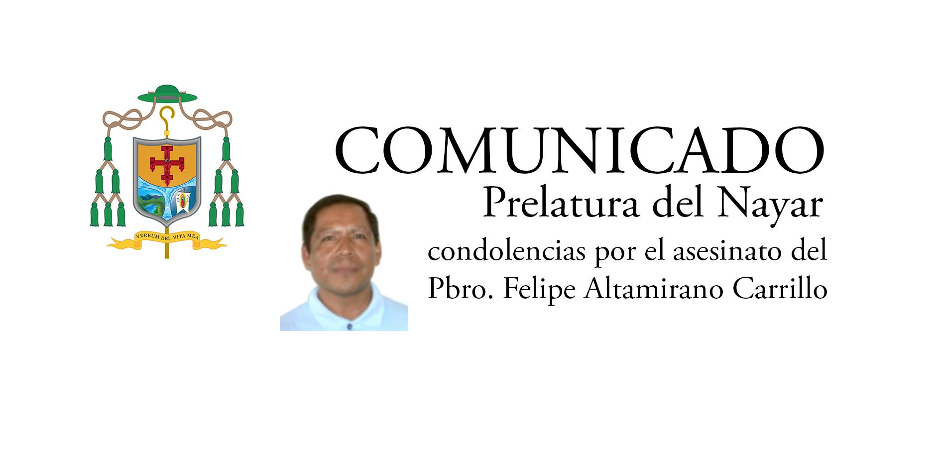 Prelatura del Nayar lanza sus condolencias por sacerdote asesinado