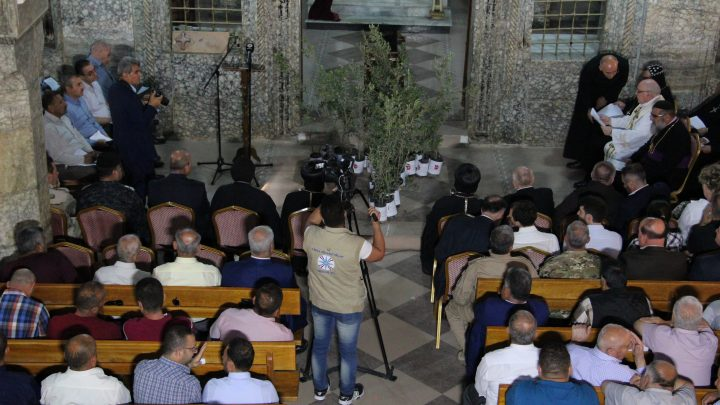 """The """"Olive Tree"""" ceremony took tomorrow on Monday, May the 8th, in three towns of the Nineveh Plains: Bartella, Qaraqosh and Karamless."""