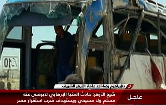 28 cristianos coptos mueren en Egipto al ser atacados en un autobús