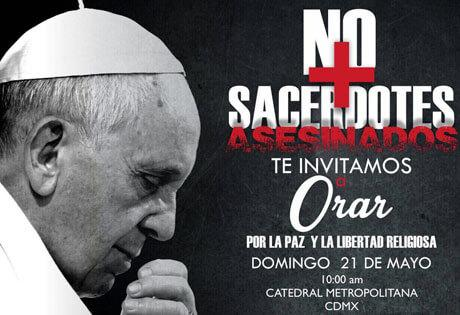 """""""No más sacerdotes asesinados"""", jóvenes harán jornada de oración por la paz"""