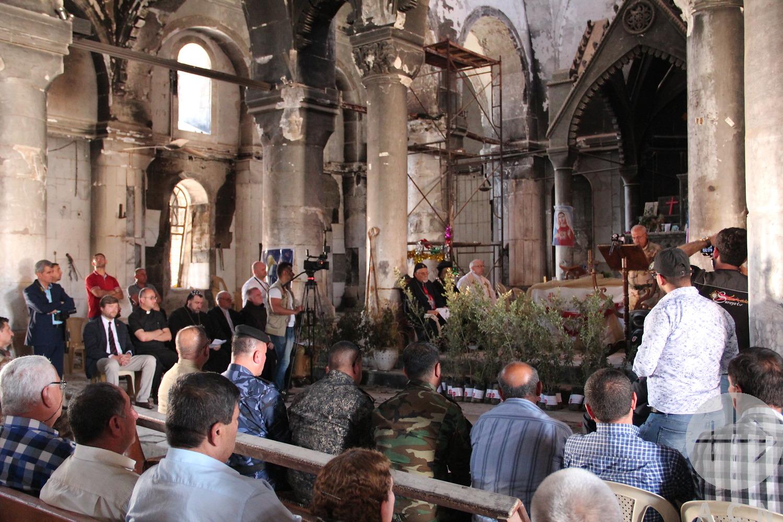 """Con la """"Ceremonia de los Olivos"""" se dio inicio a la reconstrucción en la Llanura del Nínive"""