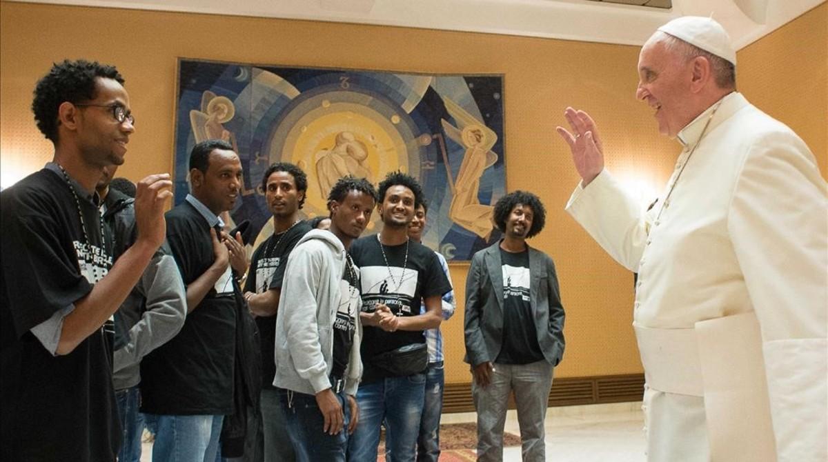 El Papa se encontrará con refugiados acogidos en parroquias de Roma