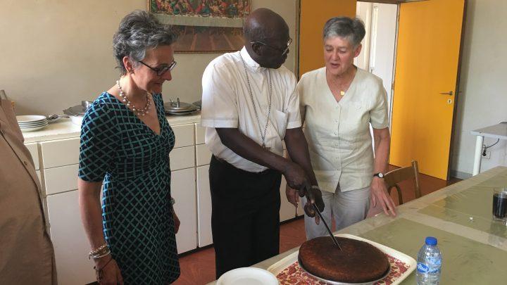 Celebrating 25 years as a Bishop with Archbishop Michael Adgum Didi Mangoria from Khartoum.