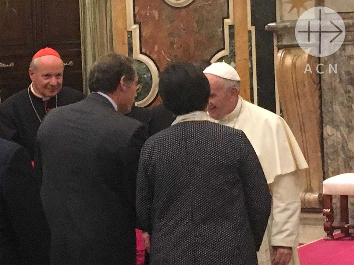 ACN presenta al Papa Francisco proyecto de reconstrucción en Irak