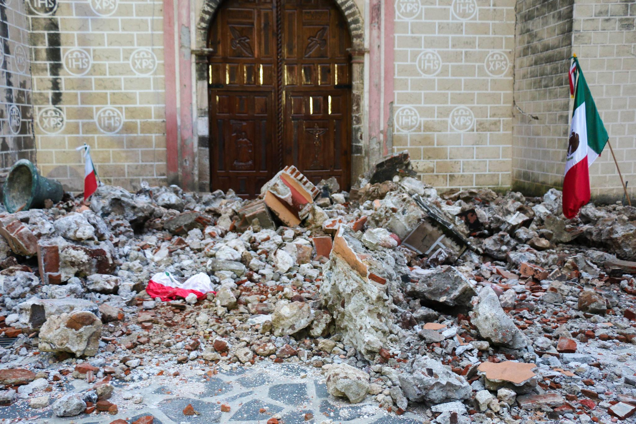 A un mes del 19s. se registran daños en 996 Iglesias