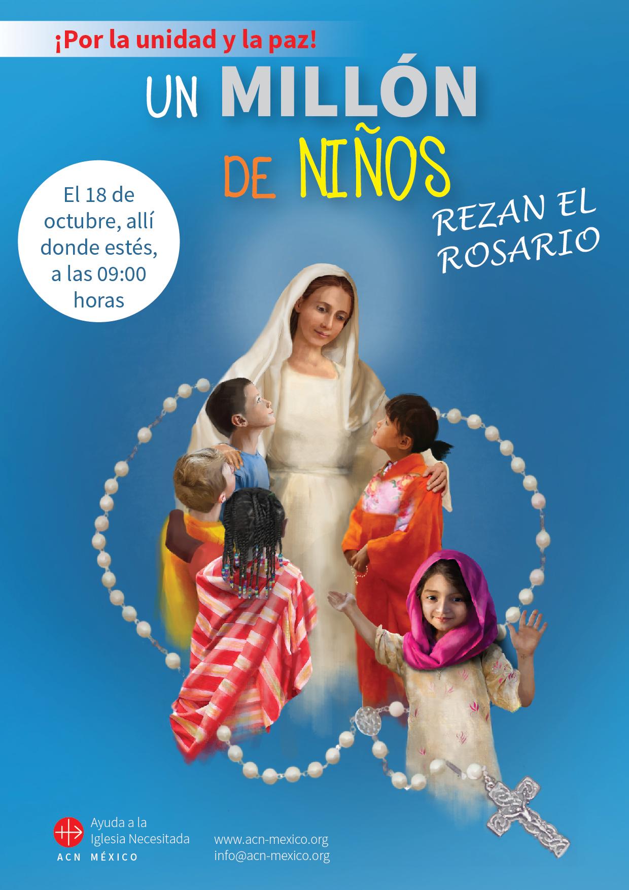 """El 18 de octubre: """"Un millón de niños rezan el Rosario"""""""