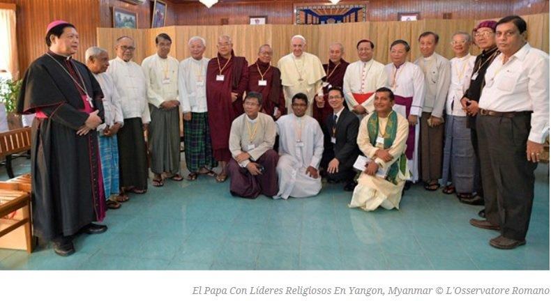 """Encuentro del Papa con líderes religiosos en Myanmar: """"¡No tengamos miedo a las diferencias!"""""""