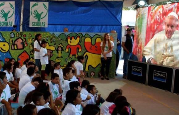 El Papa conversó con niños de Morelos afectados por el sismo