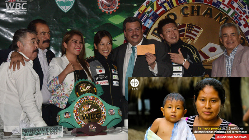 La campeona japonesa Yoshikawa y el Consejo Mundial del Boxeo hacen donativo a ACN