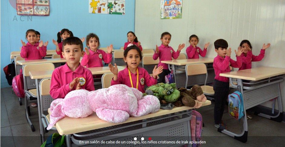 Volver al Colegio: un regalo de ACN para los niños refugiados de Irak