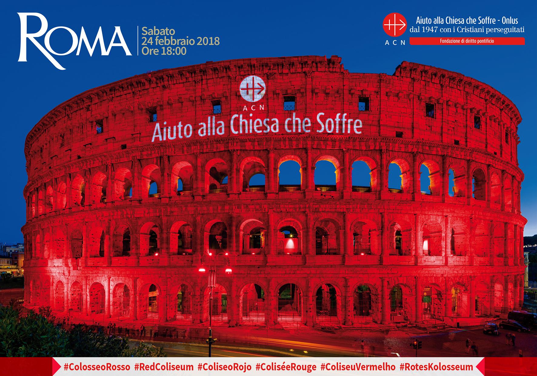ACN enciende de rojo el Coliseo de Roma, Alepo y Mosul se unen a la acción