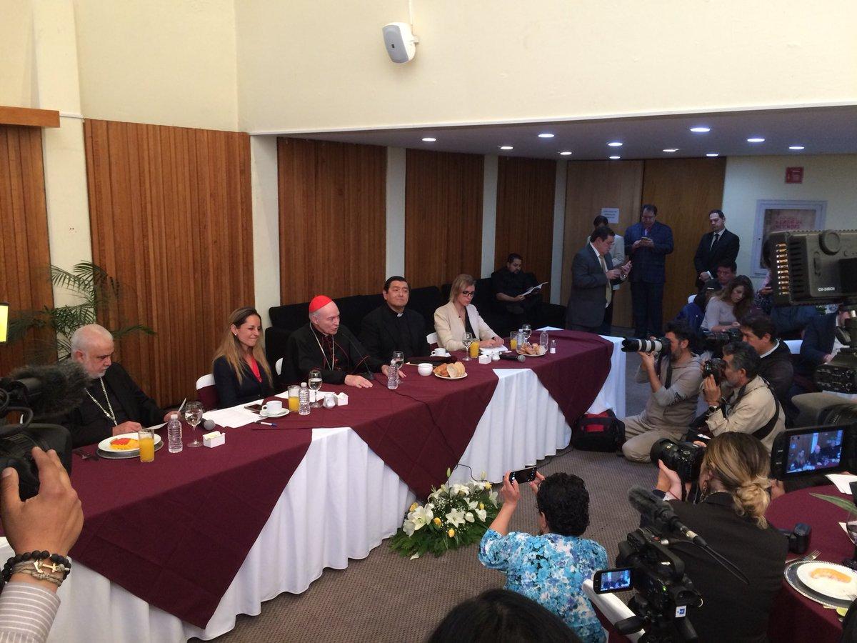 Nuevo arzobispo de la CDMX se encuentra con representantes de la prensa