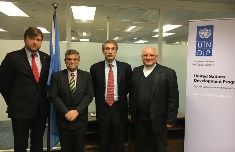 Reunión entre ACN, los Caballeros de Colón y la ONU para unir fuerzas en la reconstrucción de Nínive