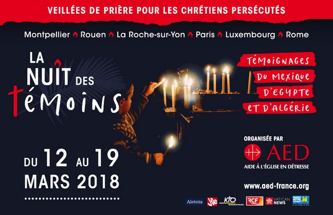 La Noche de los Testigos en Francia del 12 al 19 de marzo