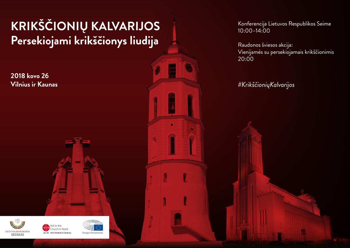 Luces rojas iluminarán catedrales en Lituania y Siria por los mártires