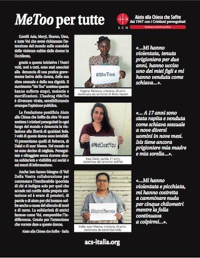 #MeToo para las mujeres violentadas debido a su fe