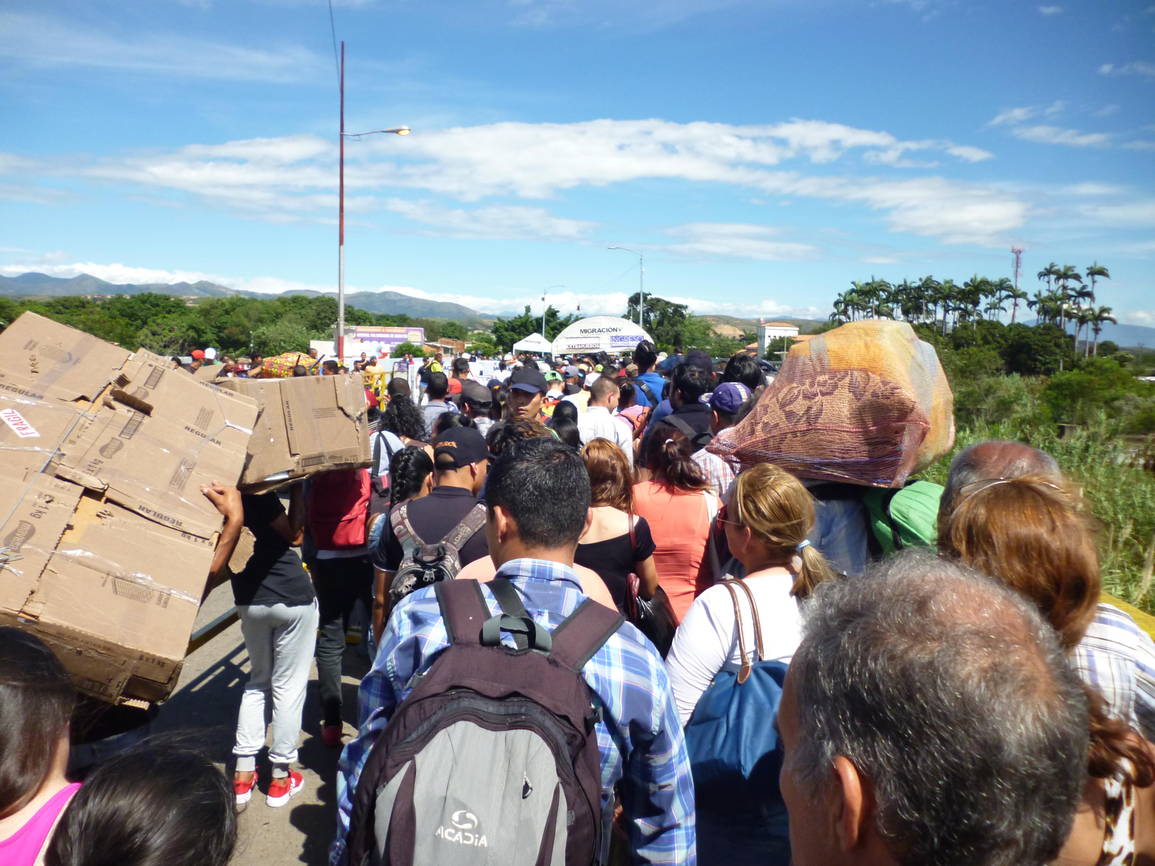 Situación de angustia por migración venezolana