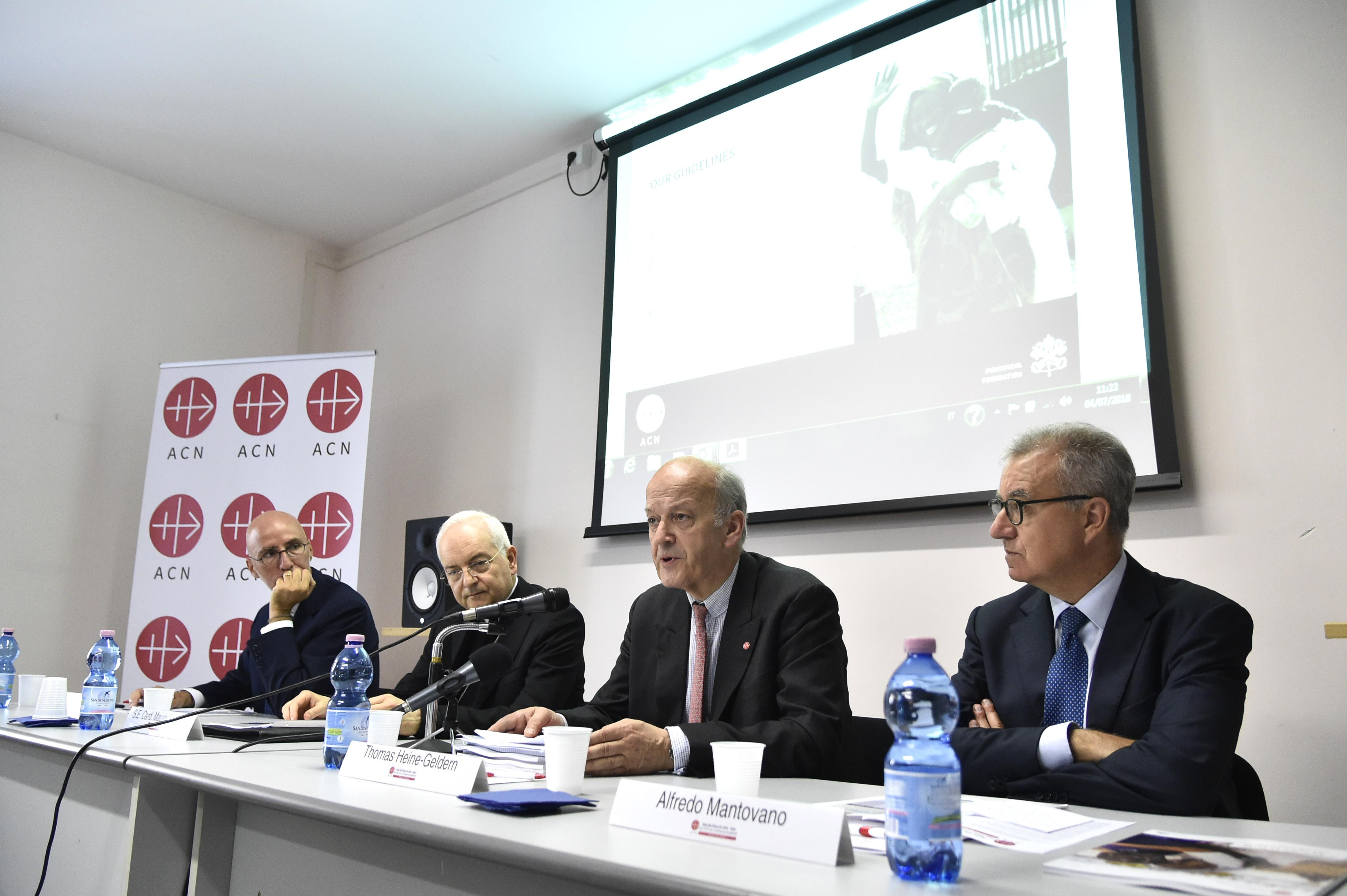 Presentan en Roma informe de ACN en el 2017, casi 125 millones de euros para la iglesia necesitada