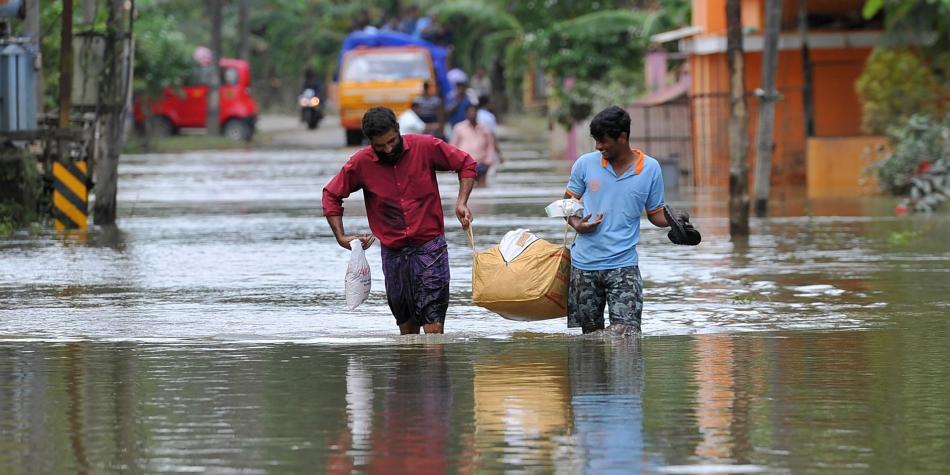 Iglesia en Kerala: India: rescate y refugio tras las inundaciones