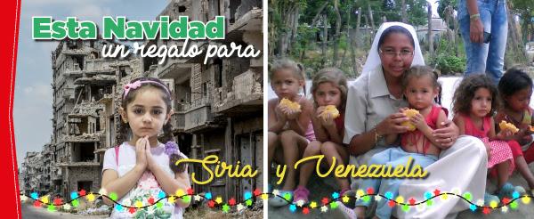 Esta Navidad regalos para Siria y Venezuela