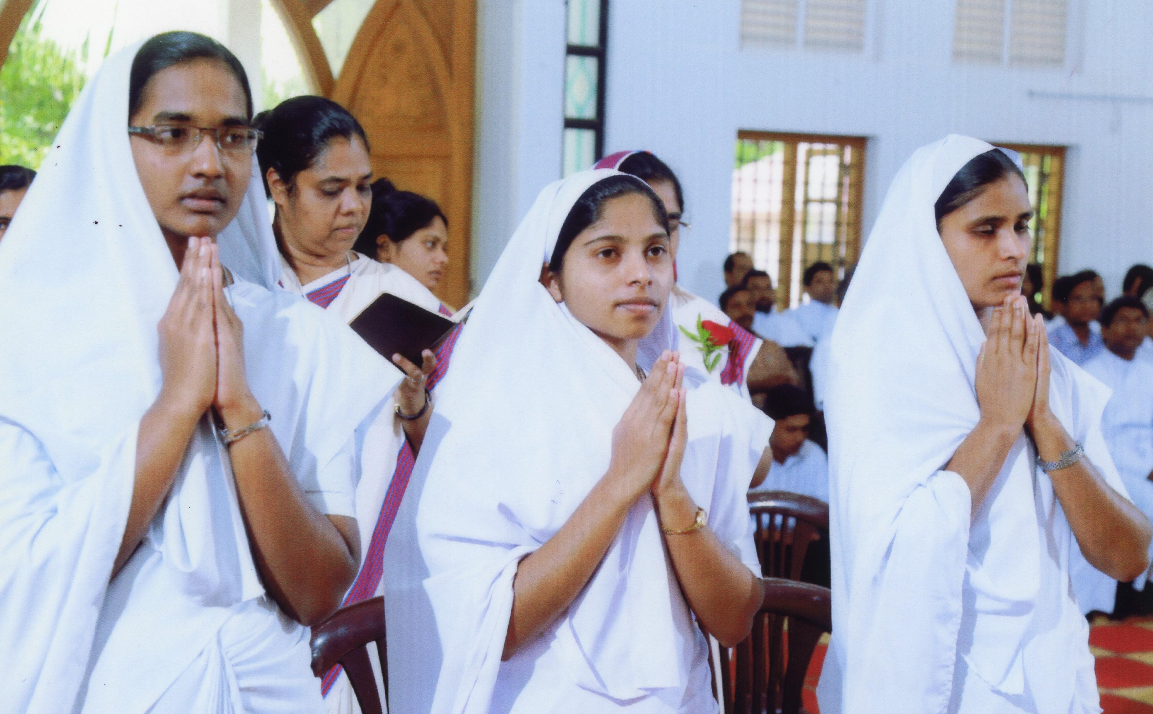 India: Ayuda a la formación de 15 novicias de las Hermanas del Espíritu Santo