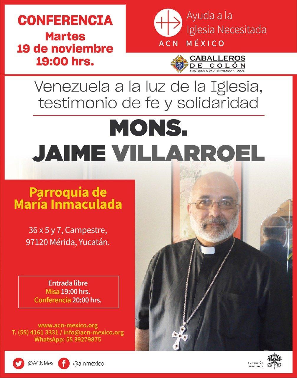 Obispo de Venezuela visita México