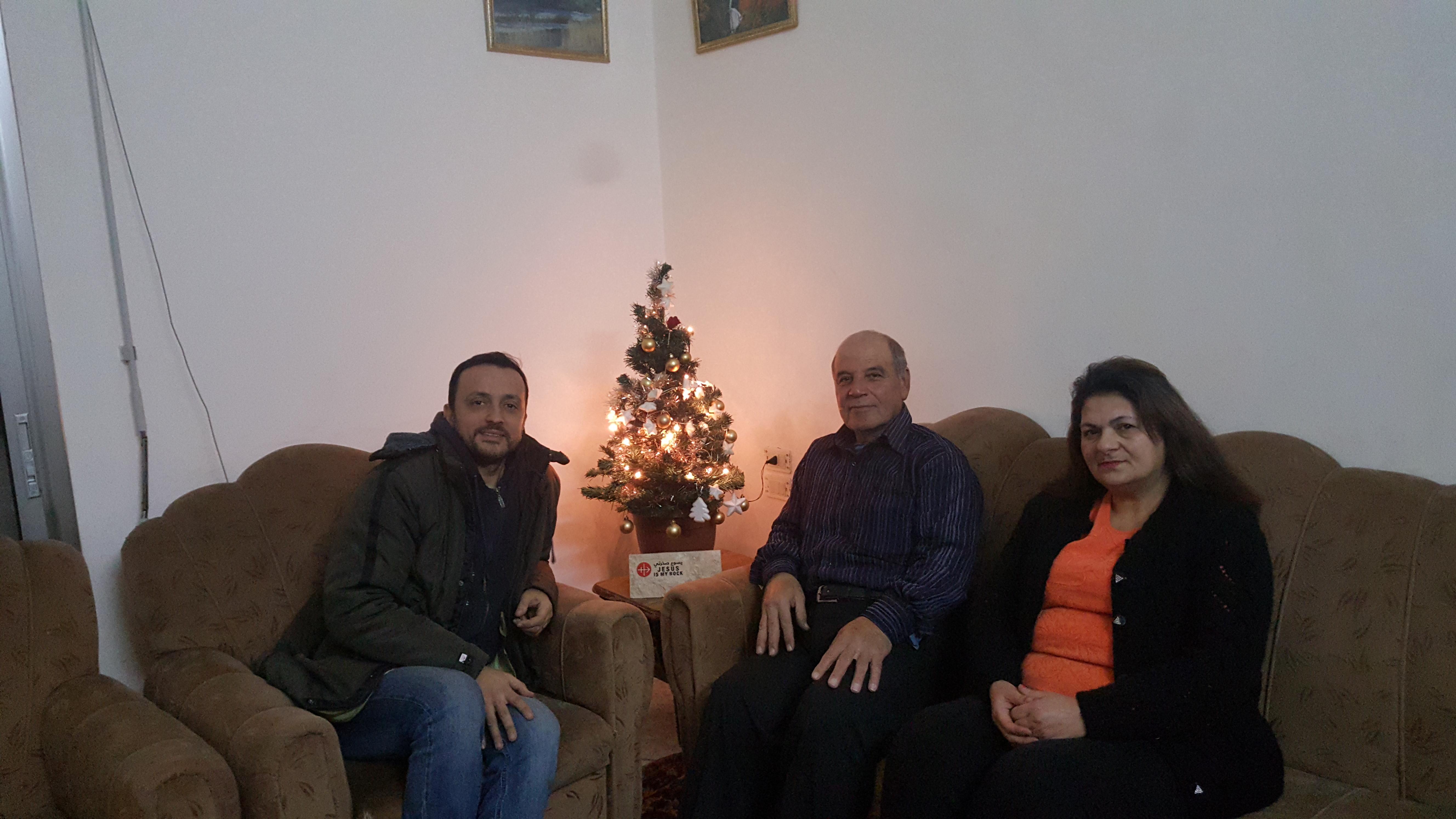 Siria: Primera Navidad en casa de los Ghattas