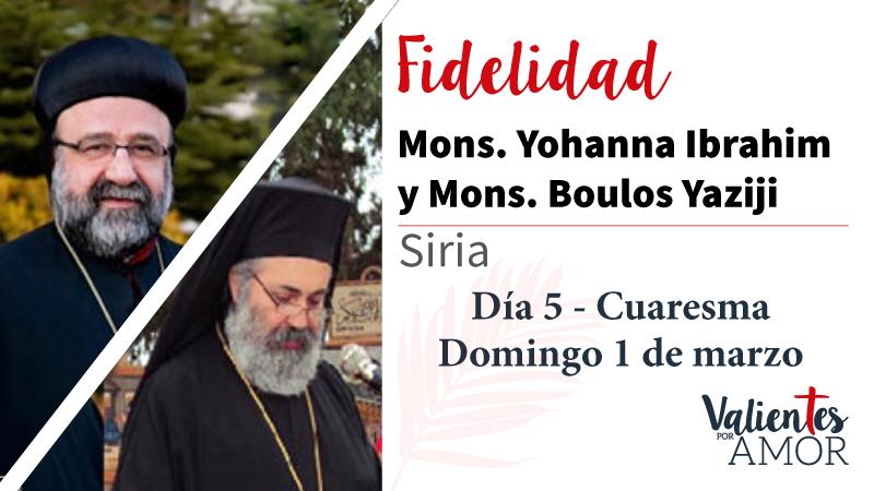 Mons. Yohanna Ibrahim y Mons. Boulos Yaziji