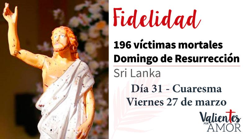 196 víctimas mortales en Domingo de Resurrección