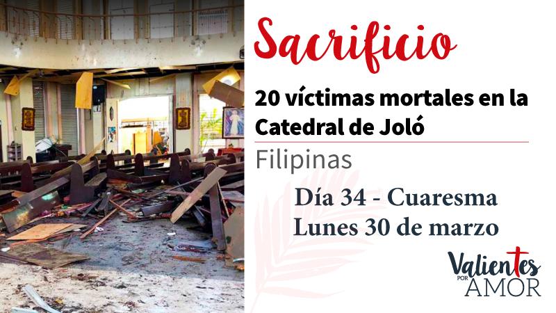 20 víctimas mortales en la catedral de Joló