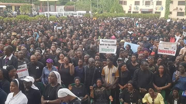 Nigeria: Obispos lideran protesta pacífica contra el alto nivel de inseguridad