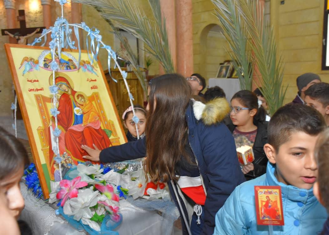 Siria: El icono continúa su peregrinación para consolador al pueblo sirio