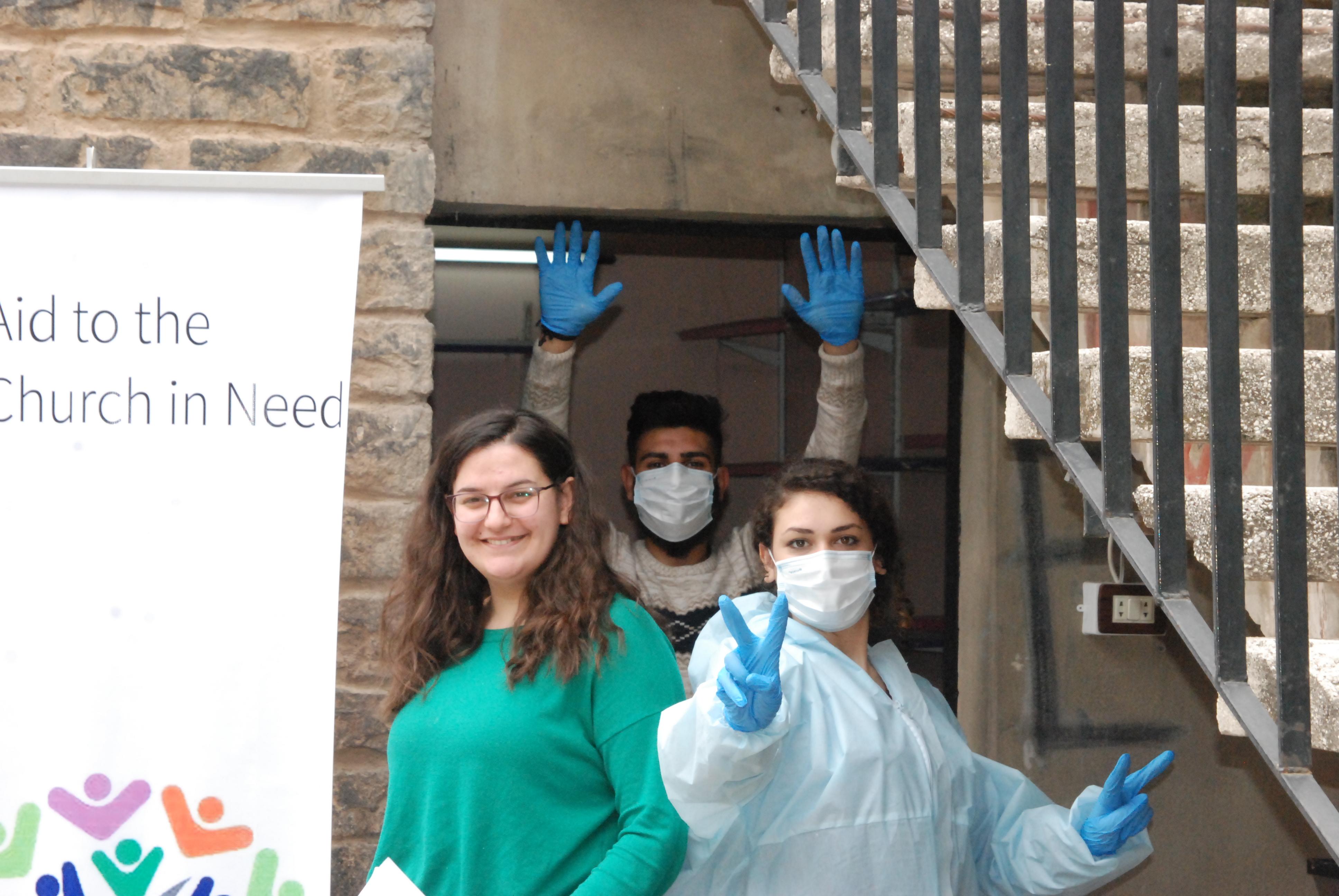 ACN apoya a más de 20 mil familias en Siria afectadas por la crisis del COVID19