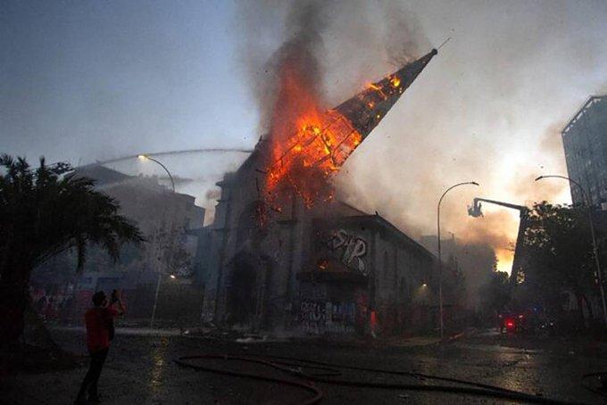 Nuevo ataque a iglesias en Santiago de Chile